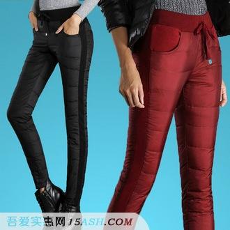 意奈米 女士加厚羽绒棉裤