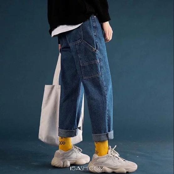 冬天穿蓝色牛仔裤,可以试试这两种搭配
