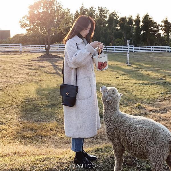 羊羔毛棉服外套