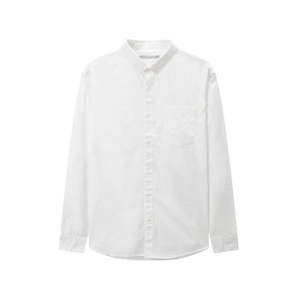 马威纯棉男秋季休闲梭织打底简约衬衫