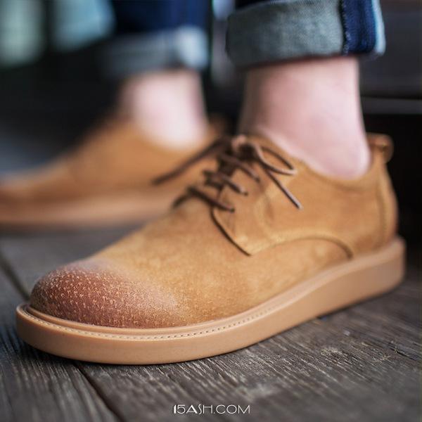 英伦百搭,马登男士反绒擦色休闲皮鞋