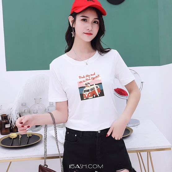 简曼琳旗舰店2019新款T恤女
