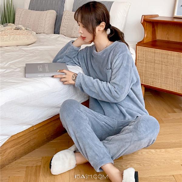 冬日小仙女暖暖套装慵懒风家居服两件套